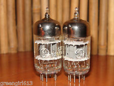 2 Vintage GE 6201 12AT7 WA 3 Mica Stereo Tubes 1961 V Strong & Bal 4780/4680 450