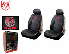 Dodge Ram Front Syn Leather Seat Covers W/Logo Fits All Dodge Rams 1994-2011