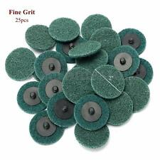 """25Pc 2"""" Fine Grit Sanding Discs Pads Cleaning Conditioning Roll Lock Surface"""