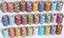 30 Double Shaded Embriodery Thread Spools  30 Colours