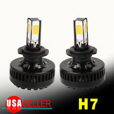 2x Super Bright 120W H7 COB LED Headlight Kit 8000LM Bulbs Beam Lamp HID White