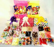 DELUXE Large Mix RETRO SWEET HAMPER Box Wrapped Gift. BIRTHDAY  CHRISTMAS Unique