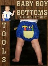 Little Lambs Baby Boy Bottoms Tools Pattern  FREE US SHIPPING