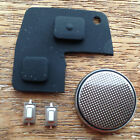 Toyota Rav4 Yaris MR2 Corolla Avensis 2 Button Remote Key Fob Case Rubber Pad