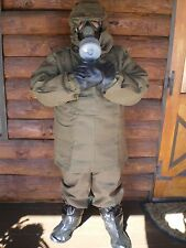 Nbc suit boots gloves Mask L to XL Nuclear Biological Chemical pandemic Hazmat