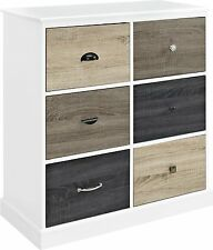 Chest of Drawers Furniture White Wood Cabinet Dresser Storage Clothes Bedroom