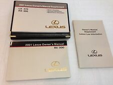 LEXUS 2001 RX300 OWNERS MANUAL BOOKS GUIDE OEM W/ LEATHER POUCH
