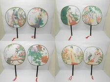 20 Chinese Silk Hand fan with Beauty Painting on depict