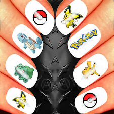 Pokemon Go pikachu characters 50 nail decals pokeball squirtle giantbomb