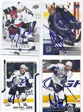 2011 Score #420 Dana Tyrell Tampa Bay Lightning Signed Autographed Card