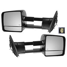 Power Towing Heated Signal Mirrors Pair Set for 07-14 Toyota Tundra Pickup Truck