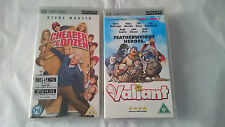 2 PELICULAS UMD VIDEO VALIANT Y CHEAPER BY THE DOZEN PSP UK INGLES