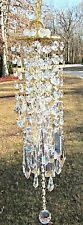 Crystal Wind Chime,  Sun Catcher, Glass Wind Chime, Garden Accent, Gift, WC 111