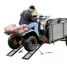 "48.5"" Dual Steel ATV Trailer Utility Loading Ramps 1,600 lb ATV Lawnmower"