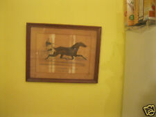 pair of original currier and ives horse racing prints circa 1872