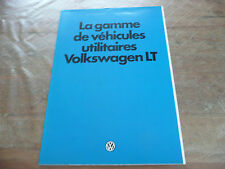 Brochure Prospekt Prospectus Dépliant 1980 VW LT Ambulance Camper Magasin French