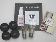 BARE ESCENTUALS bareMinerals * 8pc Foundation & Brush Sample Set * MEDIUM BEIGE