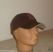 New York Yankees Brown Soft Top Slouch Baseball Hat MLB Adult NEW Fan Favorite