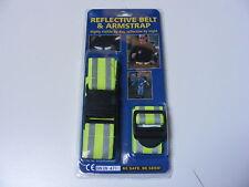 Hola Vis Fluorescente Refractante cinturón y correa del brazo-Talla Única-se adapta a los adultos y niños