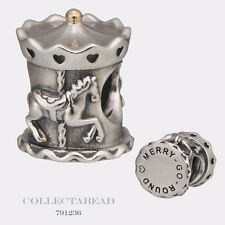 Authentic Pandora Sterling Silver & 14Kt Carousel Bead 791236
