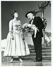 JIMMY DURANTE GIVES FLOWERS TO ROBERTA PETERS HOLLYWOOD PALACE 1964 ABC TV PHOTO