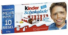 FERRERO - Kinder Chocolate - 125 g bar = 10 pcs - German Product