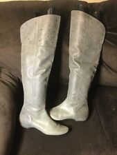Kenneth Cole Reaction Women's Bard Tricks Sz 11 M Leather Over the Knee Boots