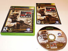 +++ AMERICA'S ARMY AA RISE OF A SOLDIER Microsoft XBOX Game COMPLETE CIB! +++