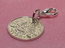 1936 80th Birthday Threepence coin bracelet charm ready to hang 1936 gift