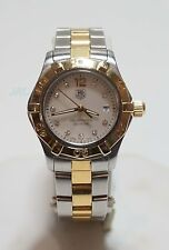 TAG Heuer Aquaracer Women's WAF1425 Two-Tone Diamond Mother of Pearl Watch