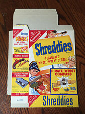 1950's Pirate Kids Vintage Cereal Box Shreddies Compass RARE VG Condition