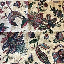 Vtg Waverly Fabric Century Centennial Collection Floral Fabric Made in USA