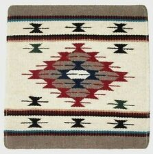 """Pillow Cover Southwest Western Home Decor 18x18"""" Off White Wool / Canvas #9"""