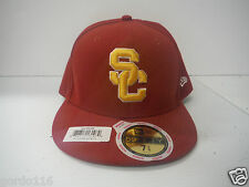 USC Trojans New Era Fitted Hat Cap Womens Hat 7-3/8 NCAA Official 59 FIFTY Red