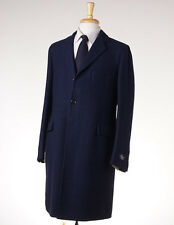 NWT $2395 BELVEST Dark Blue Unstructured Soft Wool Overcoat 40 R (Eu 50) Coat