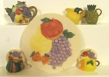 11 pc Mini Ceramic Fruit Tea Set NIB