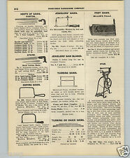 1927 PAPER AD Star Brand Fret Jig Foot Power Pedal Treadle Cast Iron