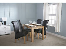 Solid Oak Dining Table 4 to 6 Seater - Butchers Block Design - 4ft 120cm