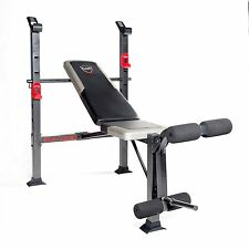 Weight Lifting Bench Press Home Gym Barbell Pro Fitness Equipment Adjustable NEW