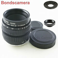 "35mm F/1.7 C mount 2/3"" CCTV lens for SONY E Mount NEX-5 3 5N C3 7 A6000 + macro"