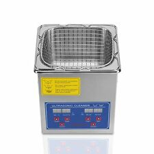 2 L Stainless Steel Ultrasonic Cleaner Large Timer Cleaning Bracket 110V  Y