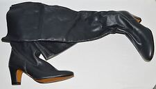 SHELLYS SALTNPEPPER NEW SZ 6 M 37 GRAY LEATHER OVER THE KNEE BOOTS