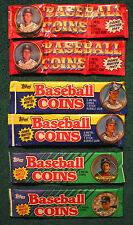 1987 1988 1990 Topps Baseball Coins 6 Unopened packs 3 coins per pack from Box