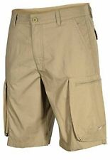 "NIKE MEN'S SIZE 32 PERFORMANCE WOVEN COTTON CARGO SHORTS 10"" KHAKI BROWN BNWT"