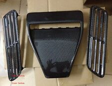 Carbon Fiber Hood Scoop Vent OE Style 3pcs Fit For 08-15 Lancer EVO X