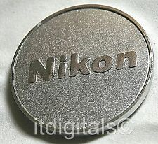 For Nikon 58mm Metal Screw-in Front Lens Cap Custom Hand made Silver 58 mm Dust