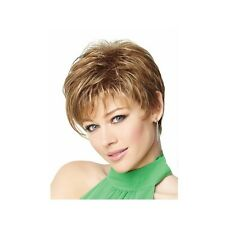 Natural Short Blonde Wig Heat Resistant Kanekalon Fiber Puffy Straight Wig +Gift