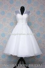 1565 short wedding dresses tea knee organza coat size 8 10 12 14 16 18 20 lb47