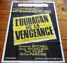 AFFICHE ORIGINALE CINEMA 1965 L'OURAGAN DE LA VENGEANCE RIDE IN THE WHIRLWIND