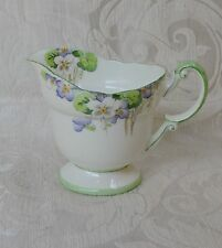 Royal Paragon by Appointment Art Deco Footed Creamer Green White & Blue 1930's